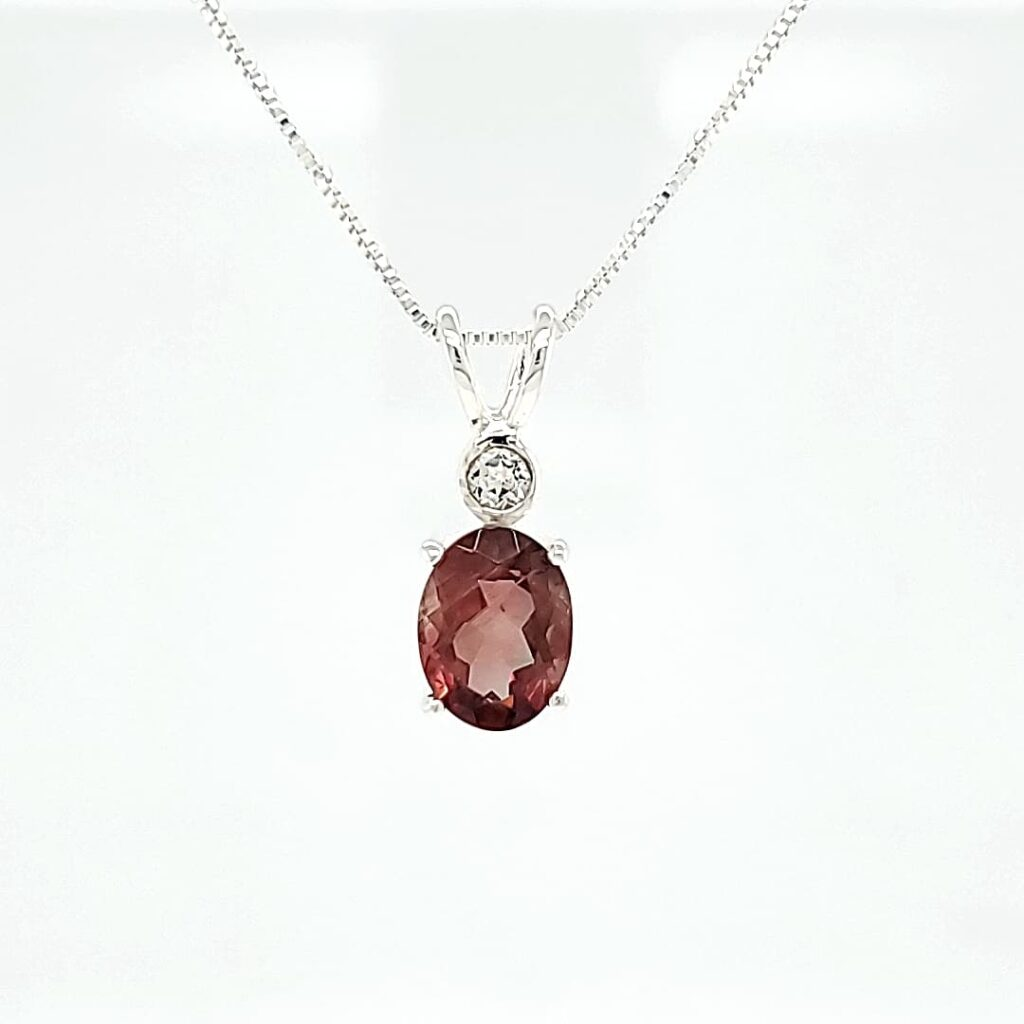 Accented Sunstone Necklace (1)